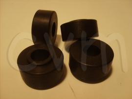Trekstang rubbers poly set van 4 voor twee zijde's