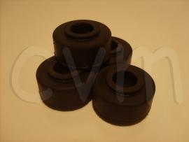 Trekstang rubbers set van 4 voor twee zijde's