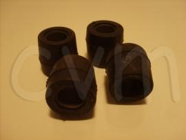 Voordraag-arm rubbers set van 4 voor twee zijde's
