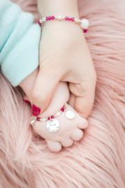 Baby- en kind armband Framboos