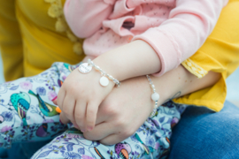 Baby- en kind armband Diamant