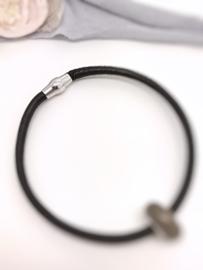 HEREN DNA Kralen armband leer