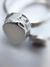 Moedermelk ring druppel gladde band
