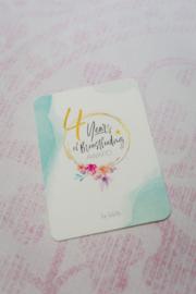 4 Years Breastfeeding Milestone Card