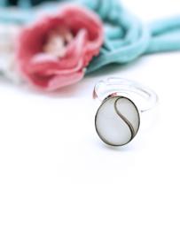 Moedermelk ring ovaal