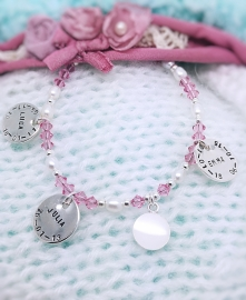 Mama armband Lychee