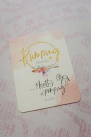 Pumping Award (kolven) Breastfeeding Milestone Card