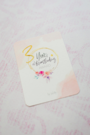 3 Years Breastfeeding Milestone Card