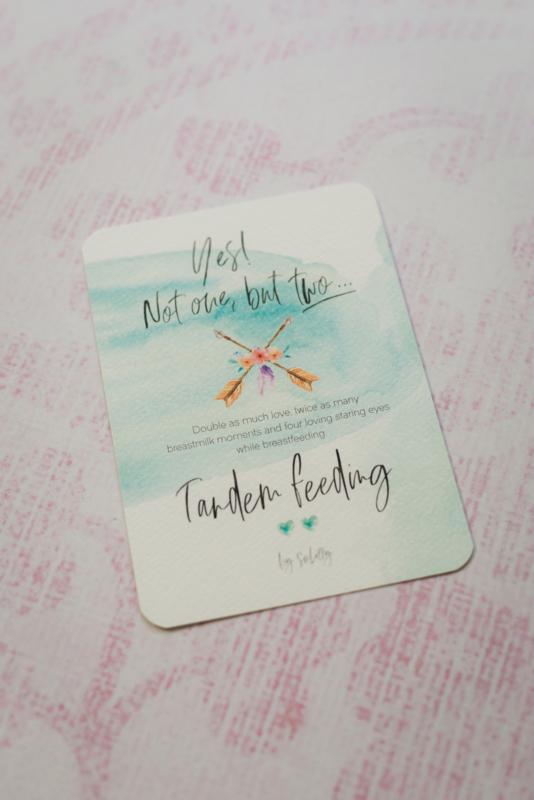 Tandem Breastfeeding Milestonde Card