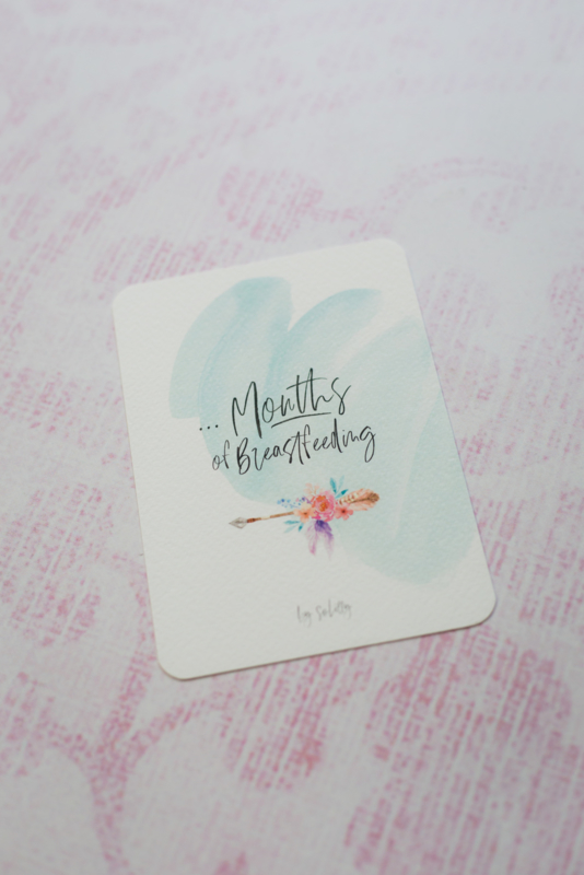 Invulkaart aantal maanden Breastfeeding Milestone Card