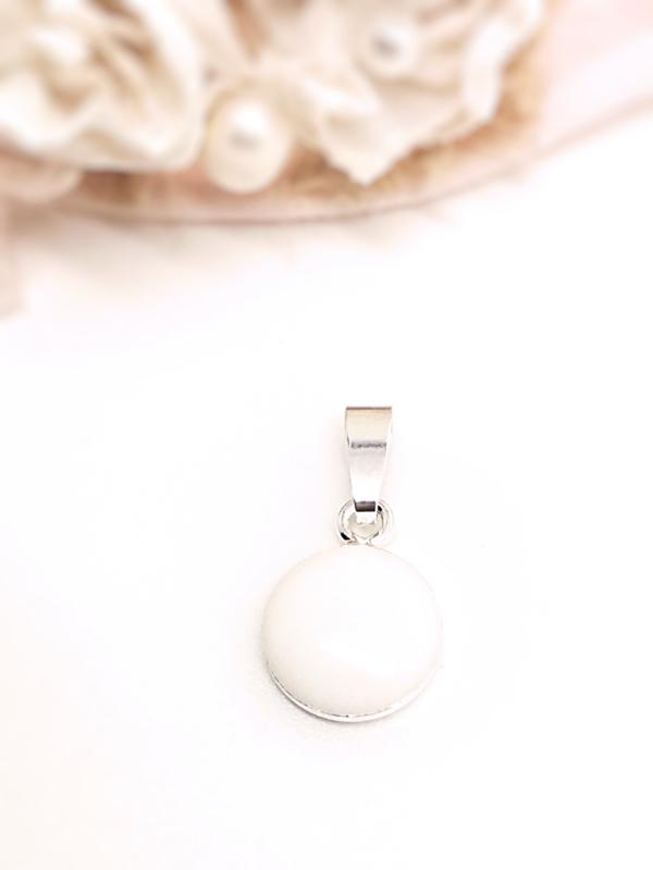Moedermelk hanger- en ketting MINI rond platte achterzijde