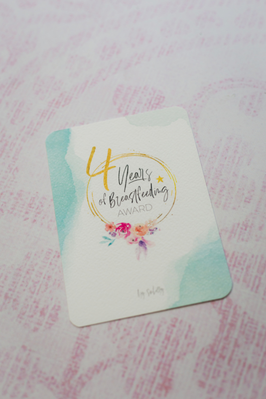 4 Years Breastfeeding Milestone Card