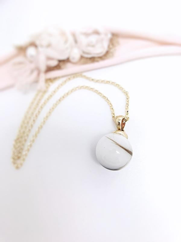 Moedermelk hanger- en ketting Pearl 14k goud