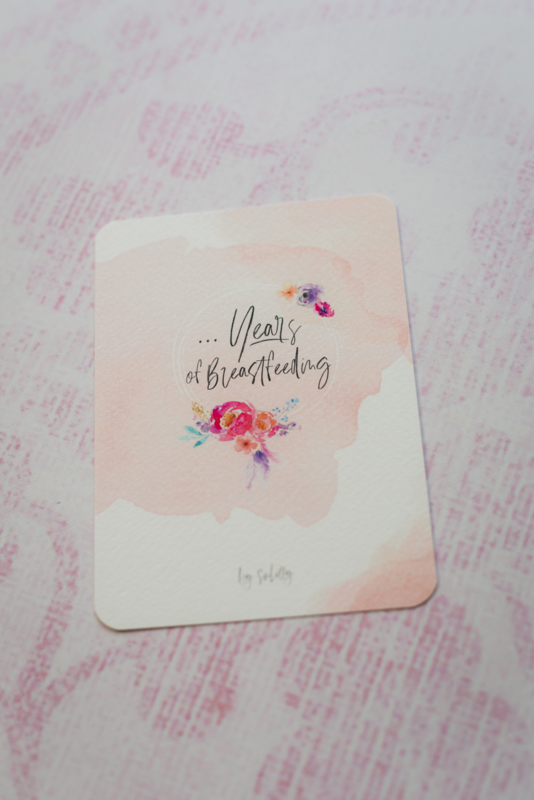 Invulkaart aantal jaren Breastfeeding Milestone Card