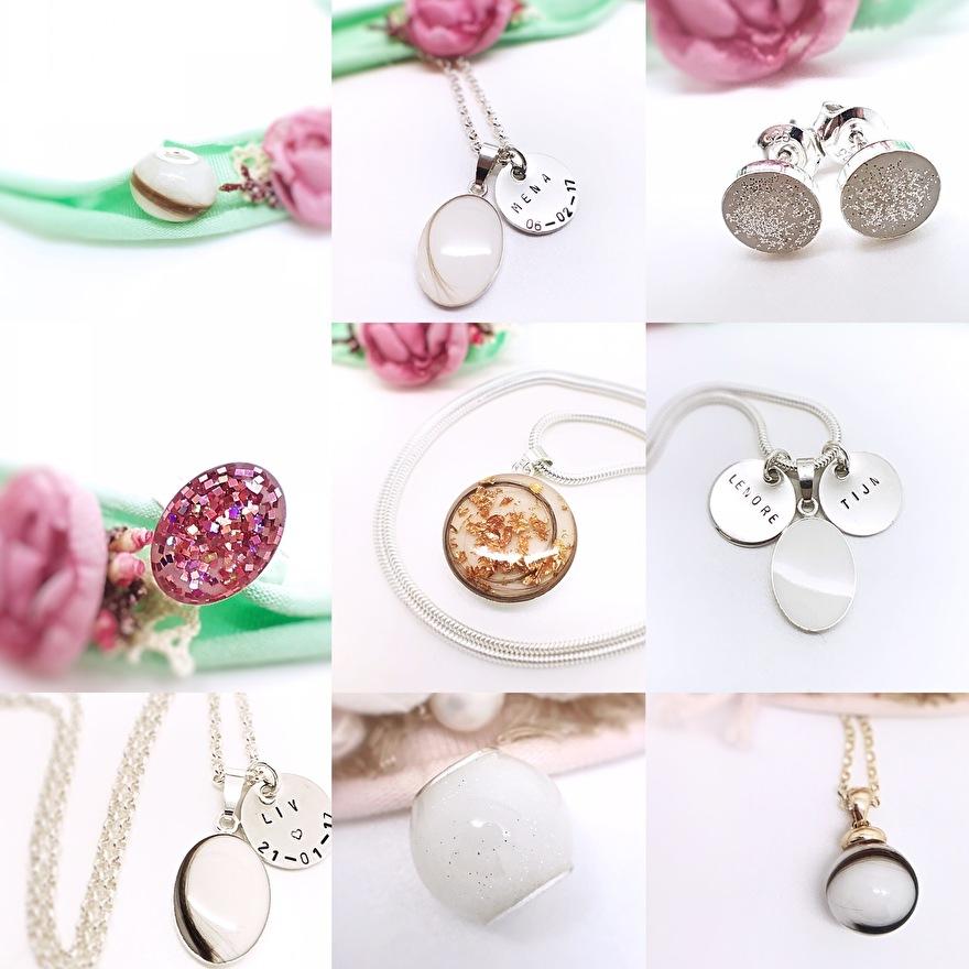 groothandel verkoop online maat 40 Moedermelk sieraden/ moedermelk juwelen/ as sieraden ...