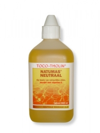 Toco-Tholin Natumas Neutraal massage olie / 500 ml