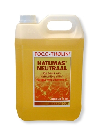 Toco-Tholin Natumas Neutraal massage olie / 5 liter