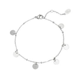 Armband muntjes- zilver