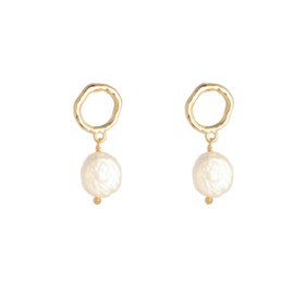 Oorringen Pearl - Gold