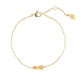 Armband ananasje - goud