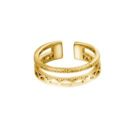 Ring boho -goud