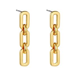 Oorbellen chain -goud