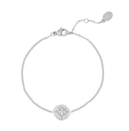 Armband met steentjes - zilver