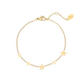 Armband sterretjes - goud