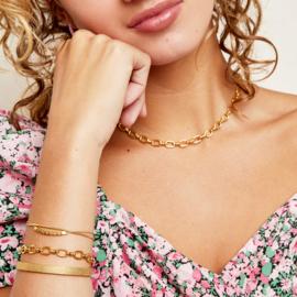 Armband big chain - goud