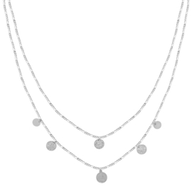 Necklace  Coins - Silver