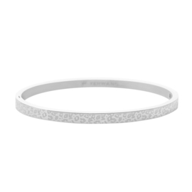 Bangle panterprint - zilver