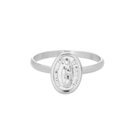 Ring spirituele munt - zilver