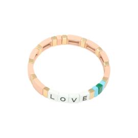 Armband love perzik