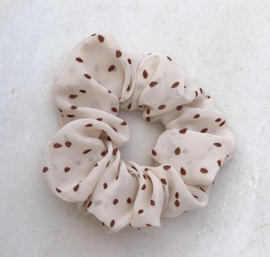 Scrunchie stipjes off-white