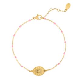 Armband spiritueel muntje - goud