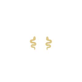 Oorknopjes slangetje - goud