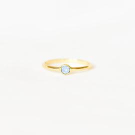 Ring Swarovski lila - goud
