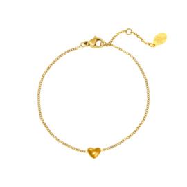 Armband hartje - goud