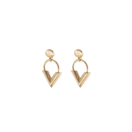 Earrings Sweet V - Gold