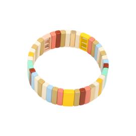 Armband elastiek met kleurtjes