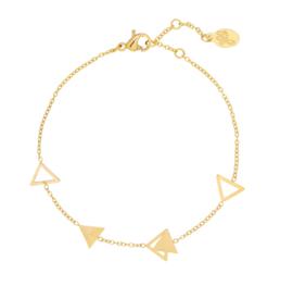Armband driehoekjes - goud
