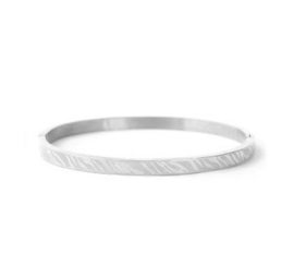 Bangle zebraprint - zilver