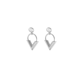 Earrings Sweet V - Silver