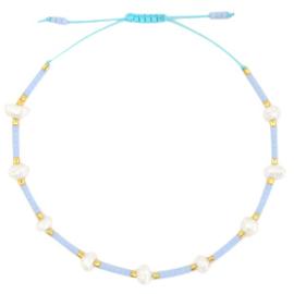Armband pareltjes - babyblauw