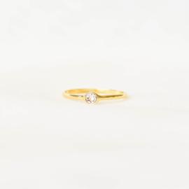 Ring Swarovski oudroze - goud