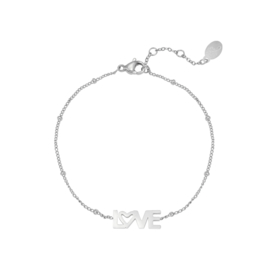 Armband LOVE- zilver