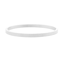 Bangle slangeprint -  zilver