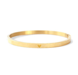 Bangle hartje - goud