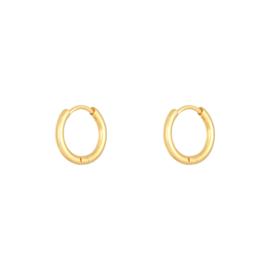 Oorringetjes Small 1.4cm - goud