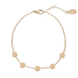 Armband rondjes - goud